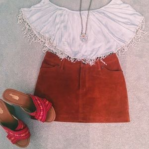 Charlotte Russe White off the shoulder top